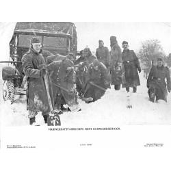 13882 WWII press photo print Marinekraftfahrtkorps beim Schneebeseitigen 1941 Presse-Bild-Zentrale