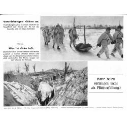 13885 WWII press photo print Verstärkungen rücken an Russia 1943, Serie 1555d