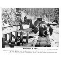 13887 WWII press photo print Feldbahnbau im Osten  Russia Organisation Todt, 1943, Serie 1555a