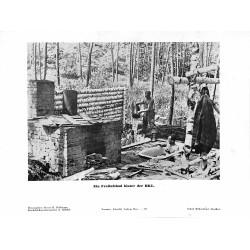 13895 WWII press photo print Ein Freiluftbad hinter der HKL Russia Photo Hoffmann