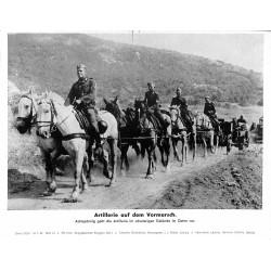 13897 WWII press photo print Artillerie auf dem Vormarsch Russia 1942, Serie 1522d