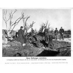 13899 WWII press photo print Neue Stellungen entstehen Russia 1943, Serie 1562d