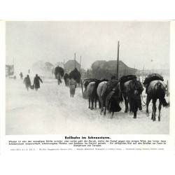 13901 WWII press photo print Rollbahn im Schneesturm Russia 1943, Serie 1547d