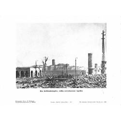 13902 WWII press photo print Das heißumkämpfte, völlig zerstörte Aprilia Photo Hoffmann