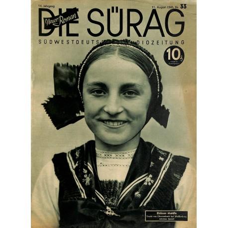 13915 INCOMPLETE - DIE SÜRAG No. 33-1940 11.August