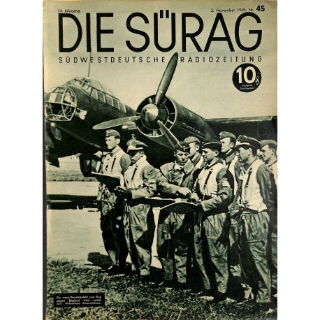 13918	 INCOMPLETE - DIE SÜRAG	 No. 45-1940 3.November