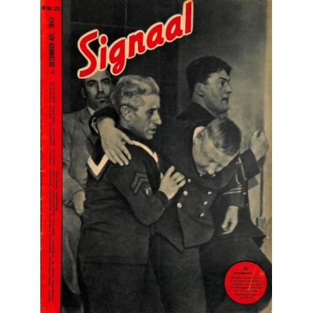0990-No. H23-1943 SIGNAAL / SIGNAL Holland Dutch - illustrated german magazineBomber, pilots, Eichenlaub Oak Leave Rüdel