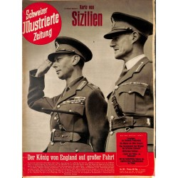 1250 SCHWEIZER ILLUSTRIERTE ZEITUNG 	 No. 26-1943	 WWII Switzerland magazine	 King of England, Compiegne , Athos Greece Russia