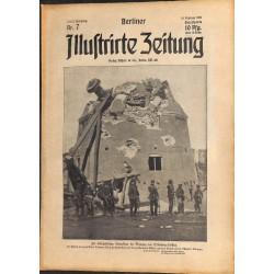 1275 preWWI-No. 7-1914 BERLINER ILLUSTRIRTE ZEITUNG German illustrated magazineFebruary 15 1914