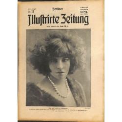 1281 preWWI-No. 13-1914 BERLINER ILLUSTRIRTE ZEITUNG German illustrated magazineMarch 29 1914