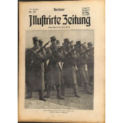 1299	 WWI -No. 	31	-1914	 BERLINER ILLUSTRIRTE ZEITUNG	 German illustrated magazine	August 2 1914 mobilization Austria