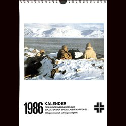 5284	 WAFFEN-SS CALENDAR	 1986	 - HIAG-Kalender for former members of the Waffen-SS