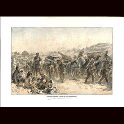 9001 WWI print German soldiers Palestine front Israel by Max Tilke