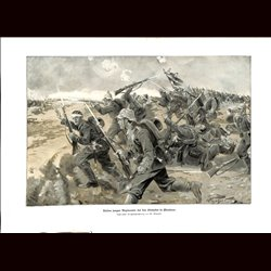 9008 WWI print German soldiers Flandern Flandre Netherlands by M. Plinzner