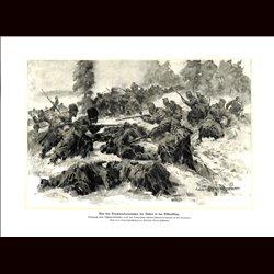 9010 WWI print Russian soldiers & Hungro-Austrian soldiers Ostbeskiden Tscherkessendivision Debrecziner Honved