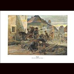 9011 WWI print Cavalry horses Ulan Hungro-Austrian army by E.Klein