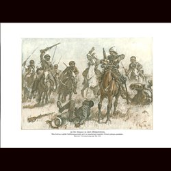 9014	 WWI print	  Iraq Mesopotamien English patroullie cavalry by Max Tilke