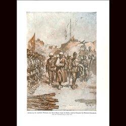 9019 WWI print English soldiers POW Kut-el-Amara, surrdender  General Townshend Turkish soldiers Ottoman Empire by Max Tilke