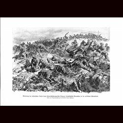 9020 WWI print Isonzo front , Italian tropps defeated by Hungro-Austrian soldiers Bosniaken by Anton Hoffmann