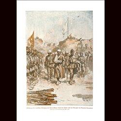 9023 WWI print English soldiers POW Kut-el-Amara, surrdender  General Townshend Turkish soldiers Ottoman Empire by Max Tilke