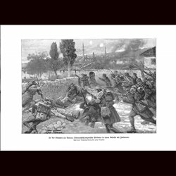 9024	 WWI print	 Valona Hungro-Austrian soldiers Italian soldiers battle by Fritz Neumann