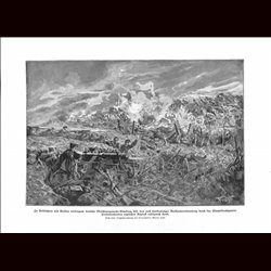 9029	 WWI print	German soldiers machine gun barb wire trenches English troops by Martin Frost