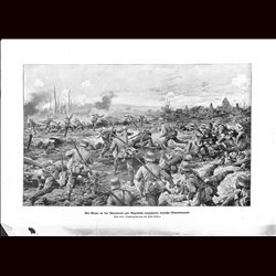 9030 WWI print Braye France German soldiers Aisne Front by Johannes Gehris