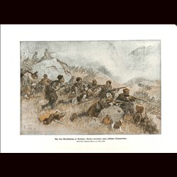 9032	 WWI print	 Guerillas Kaukasus Kurds attack russian transport Kurde by Max Tilke