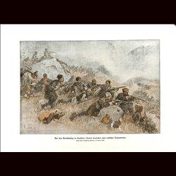 9032 WWI print Guerillas Kaukasus Kurds attack russian transport Kurde by Max Tilke
