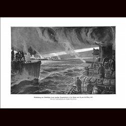9033 WWI print Dunkirk Dünkirche Dunkerque German Torpedo boats March 1917