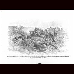 9035 WWI print German artillery against English troops, Vizewachtmeister Halbreiter 1.Garde-Reserve-Feldartillerieregiment