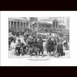 9038 WWI print Germany Munich German soldiers demobilisation 1918