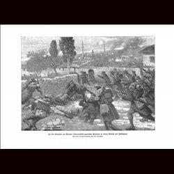 9046 WWI print Valona Hungro-Austrian soldiers Italian soldiers battle by Fritz Neumann