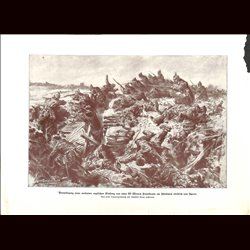 9047 WWI print Ypern trench German soliders in English trenches by Anton Hoffmann