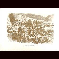 9049 WWI print Monte Pasubio Hungro-Austrian troops mountains