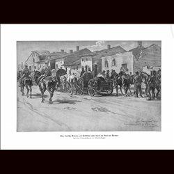 9050 WWI print village near Verdun 1916 German soldiers Fieldkitchen by Joseph Corregio