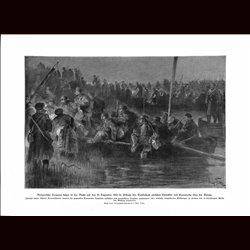 9054 WWI print Bulgarian Troops December 10 1916 Tutrakan Cernavoda Donau river by Max Tilke