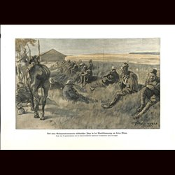 9055 WWI print Verdun Toter Mann France POW african soldiers  s