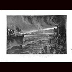 9056 WWI print Dunkirk Dünkirche Dunkerque German Torpedo boats March 1917