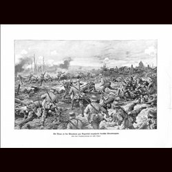 9058 WWI print Braye France German soldiers Aisne Front by Johannes Gehris