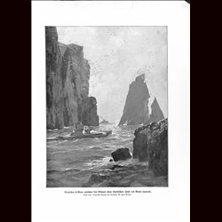 9064	 WWI print	 German submarine U-Boot Scottish Island by Zeno Diemer