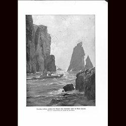 9064 WWI print German submarine U-Boot Scottish Island by Zeno Diemer