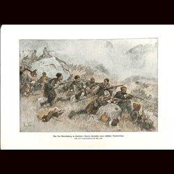 9065 WWI print Guerillas Kaukasus Kurds attack russian transport Kurde by Max Tilke