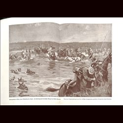 9068 WWI print Cavalry Diala Tigris Djebel Hamrin1917 Turkish front by Fritz Grotemeyer
