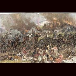 9071 WWI print Romaniac Cavalry fled from army Mackensen Walachei by Max Tilke