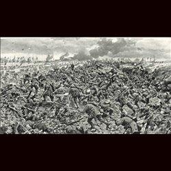 9072 WWI print Skobrowabach August 9 1916 Russian soldiers German troops bayonette hand grenades
