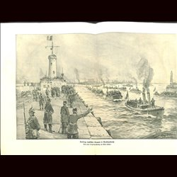 9075	 WWI print	 English troops land in North France