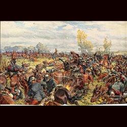 9080 WWI print German cavalry Argonnen near Verdun 1915 September by Hans Schmidt