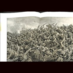 9081 WWI print Tahure Champagne France German soldiers French troops 1915 by Hans Schmidt
