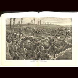 9082	 WWI print	 German soldiers medics trenches by Gehrts
